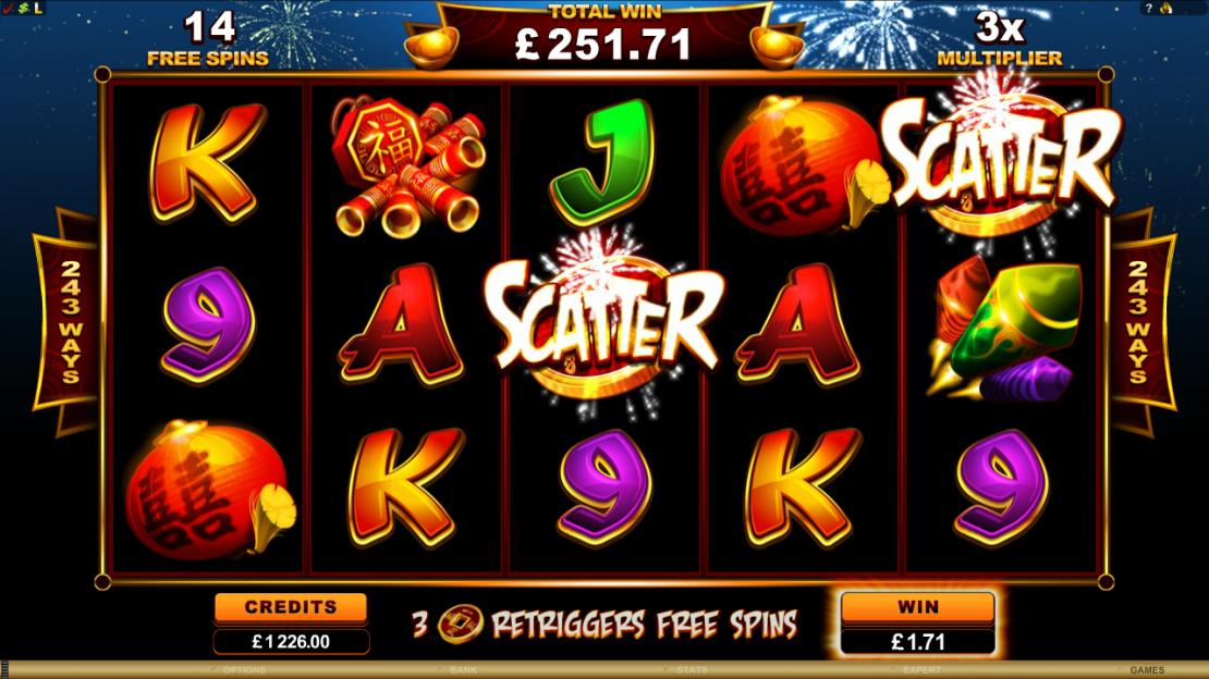 Lucky Firecracker Microgaming Slot