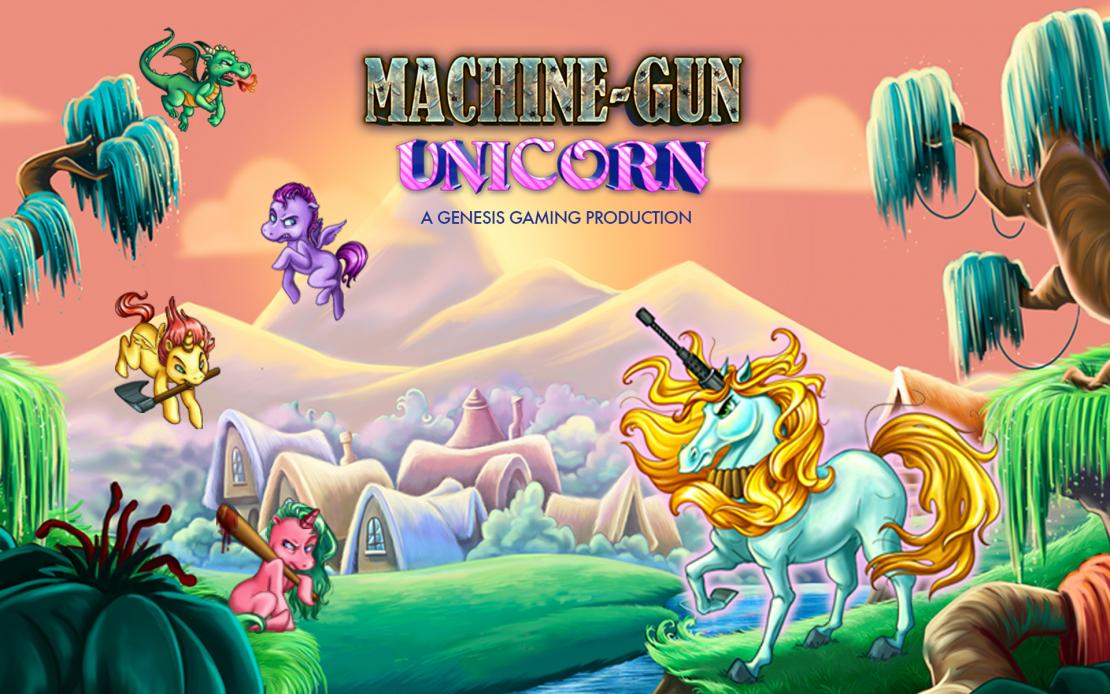 Machine Gun Unicorn slot by Genesis Gaming