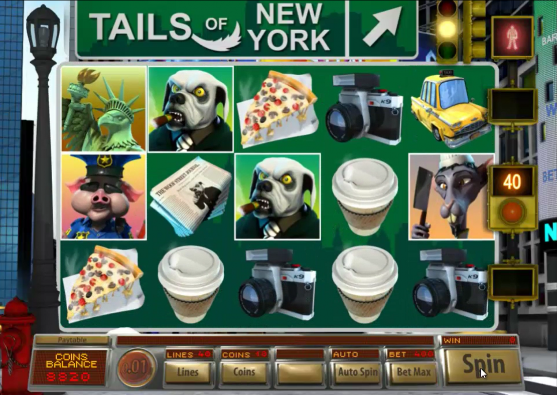 Tails of New York slot from BetOnSoft