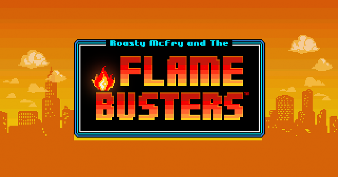 Roasty McFry and the Flame Busters slot from Thunderkick