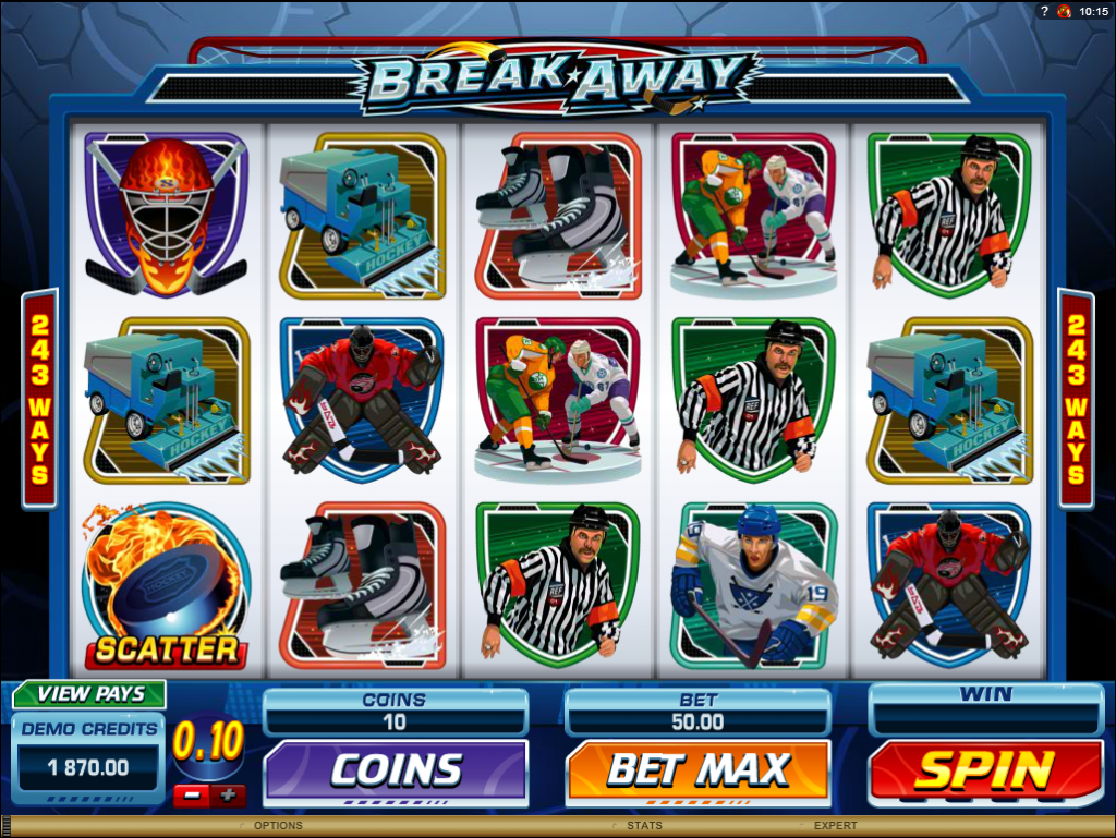 Break Away Microgaming Slot