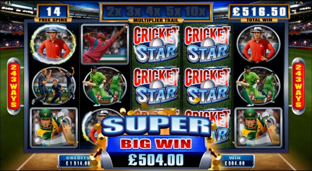 Cricket Star slot from Microgaming