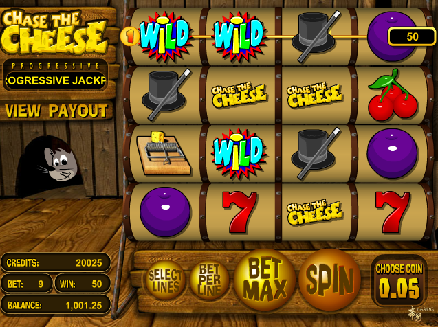 Chase the Cheese slot from Betsoft Gaming